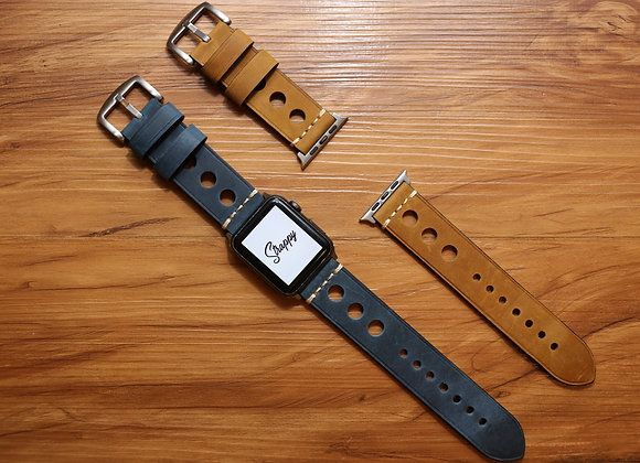 "Apple Watch Vintage ""Tropic"" Leather Strap"