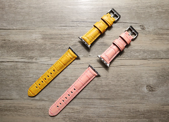 Apple Watch Alligator Grain Leather Watch Strap