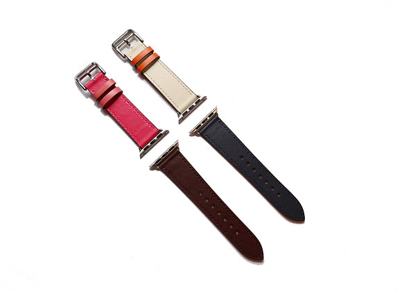 Apple Watch Girth Buckle Leather Strap (Match Colour)