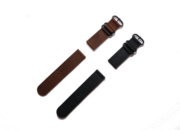 Two Piece Classic ZULU Leather Strap