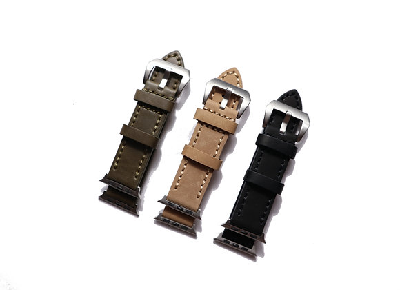 Apple Watch Thick and Heavy Calfskin Leather Watch Strap