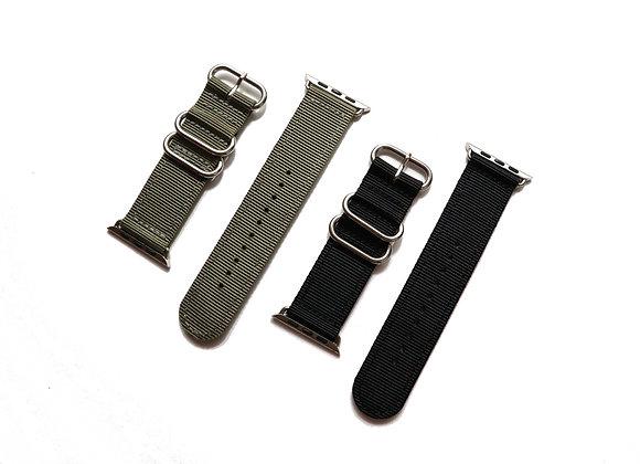Apple Watch ZULU Strap (Sliver Buckle)