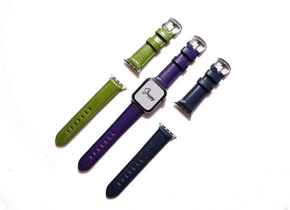 Apple Watch Grain Genuine Leather Watch Strap