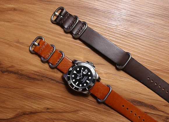 Oiled Vintage Leather NATO Strap