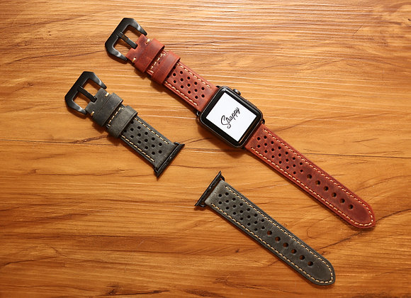 Apple Watch Racing Leather Strap