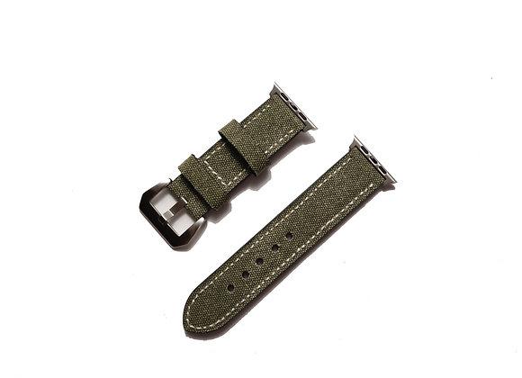 Apple Watch Canvas Vintage Italian Leather Watch Strap