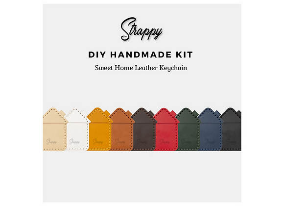 Sweet Home D.I.Y Leather Keychain Kit