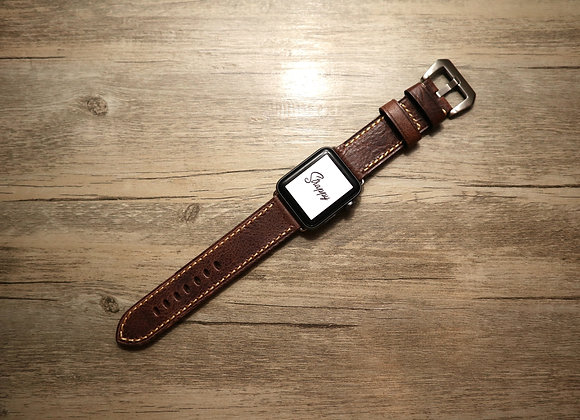 Apple Watch Premium Oiled Textured Handmade Genuine Leather Watch Strap