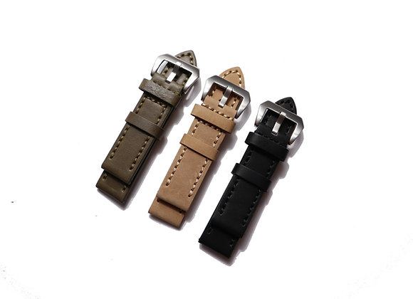 Thick and Heavy Calfskin Leather Watch Strap