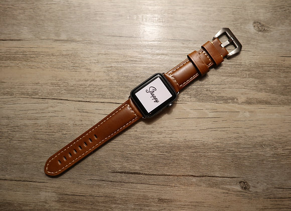 Apple Watch Oiled Vintage Leather Strap in Brownie
