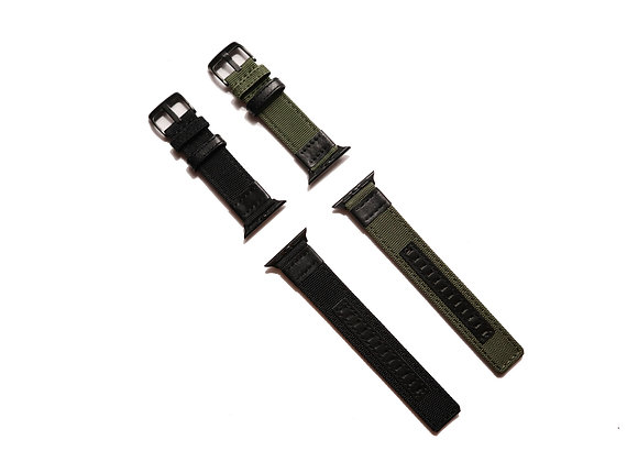 Leather Nylon Fabric Apple Watch Strap