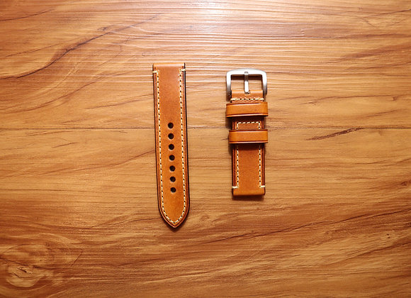 Oiled Thick Vintage Leather Watch Strap