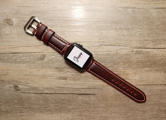 Apple Watch Oiled Vintage Leather Strap in Radish Brown