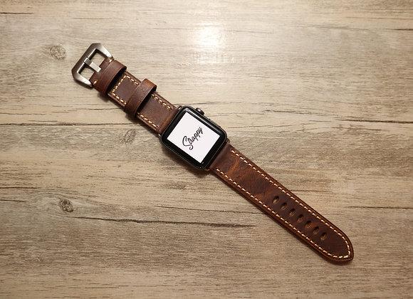 Apple Watch Premium Textured Handmade Genuine Leather Watch Strap