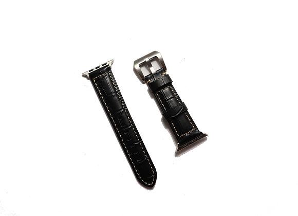 Apple Watch Alligator Grain Pattern Leather Strap