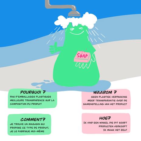 Affiche réalisée dans le cadre de l'accompagnement d'un défi zéro déchet
