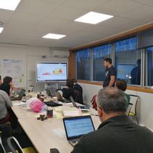 Photo prise lors d'un exercice participatif de facilitation visuelle