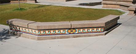 Mosaic planters at Woodrow Wilson Jr High