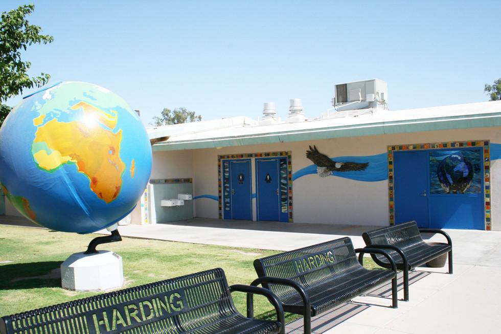 Courtyard at Harding Elementary School