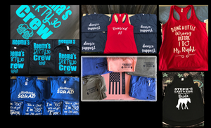 Custom T-shirts, Tanks and Racerbacks
