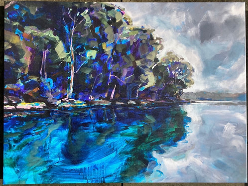 Middle Harbour Mooring (canvas print)
