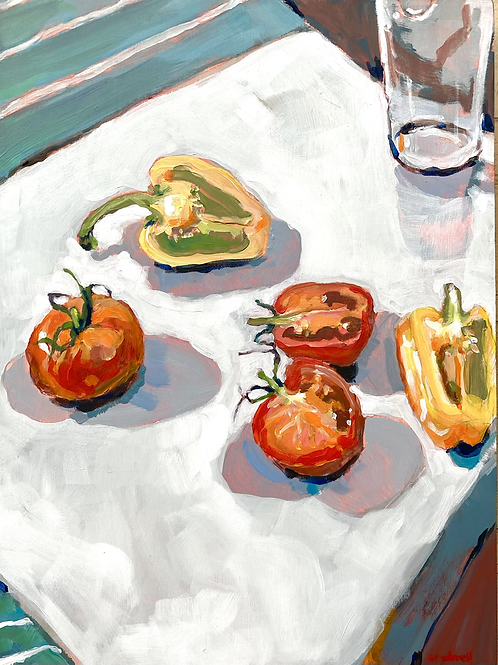 Still Life with Tomatoes and Capsicum