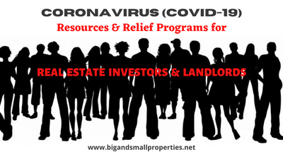 COVID 19 Resources & Relief Programs for Investors & Landlords