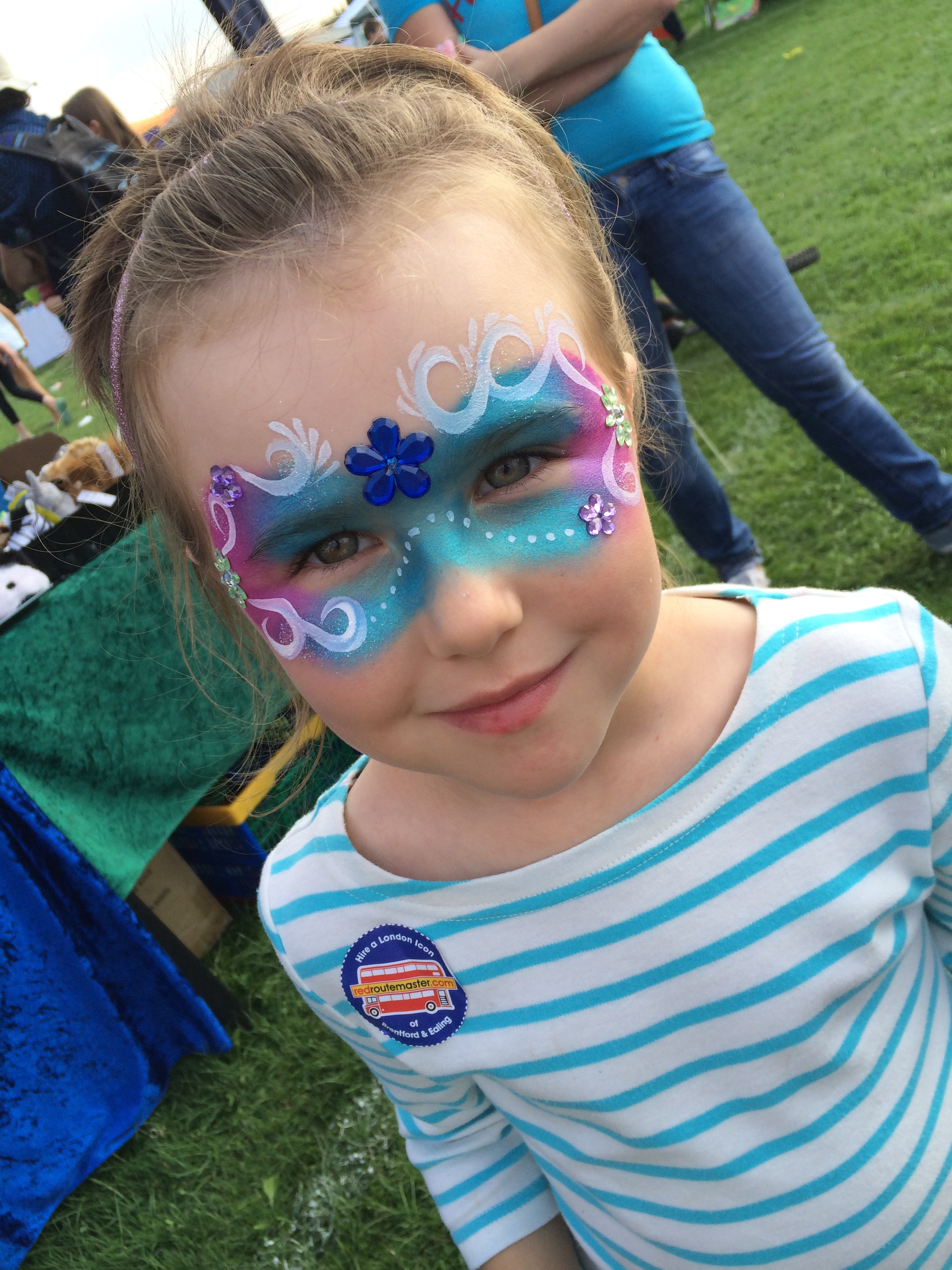 Face paint and balloons