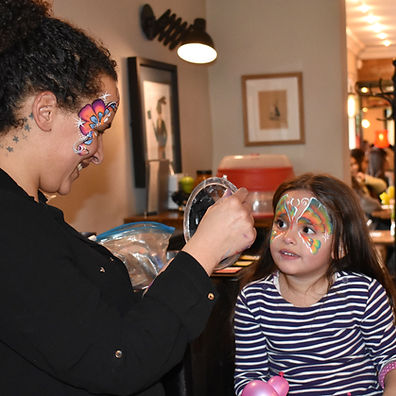 Beautiful professional face paint for any event