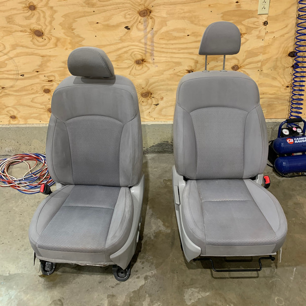 front seats after cleaning