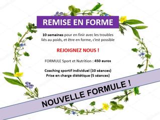 REMISE EN FORME - formule suivi diététique et activité physique