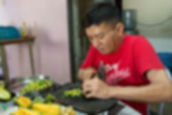 Disabled residents help out with foodpre
