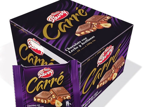 Chocolate SAVOY CARRE  (Caja 10 unidades)