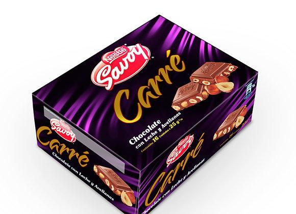 Chocolate SAVOY CARRE  (Caja 16 unidades)