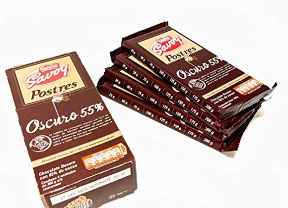 Chocolate SAVOY Postres Oscuro 55% (4 PACK)