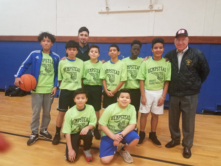 HEMPSTEAD EOC BASKETBALL TEAM WINTER 2019 VILLAGE OF HEMPSTEAD BASKETBALL LEAGUE.         DON RYAN H