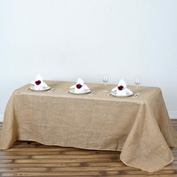Burlap Rectangle Table Cloth