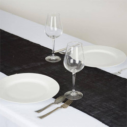 Burlap table runner Black