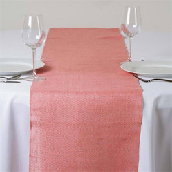 Burlap Table Runner Rose Quartz