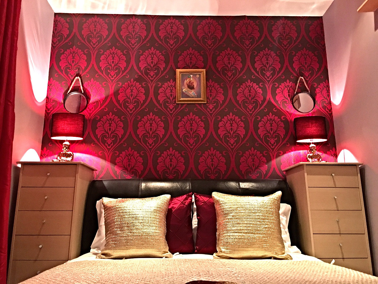 Red And Gold Bedroom