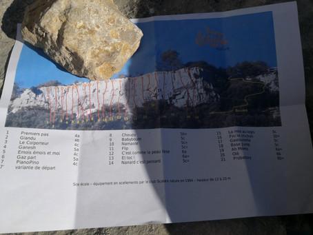 En falaise à Valflaunès avec le groupe du mardi 2 (album en lien dans le post)