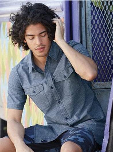 Burnside - Chambray Short Sleeve Shirt - 9255