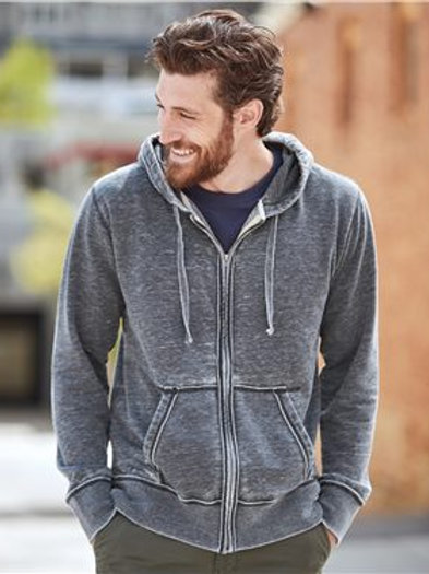 J. America - Vintage Zen Fleece Full-Zip Hooded Sweatshirt - 8916