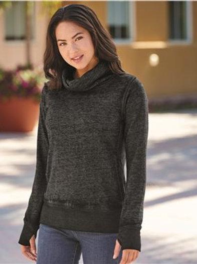 J. America - Women's Zen Fleece Cowl Neck Sweatshirt - 8930