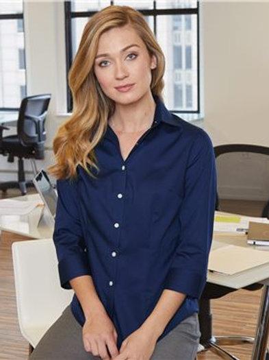 Van Heusen - Women's Three-Quarter Sleeve Baby Twill Shirt - 13V0527