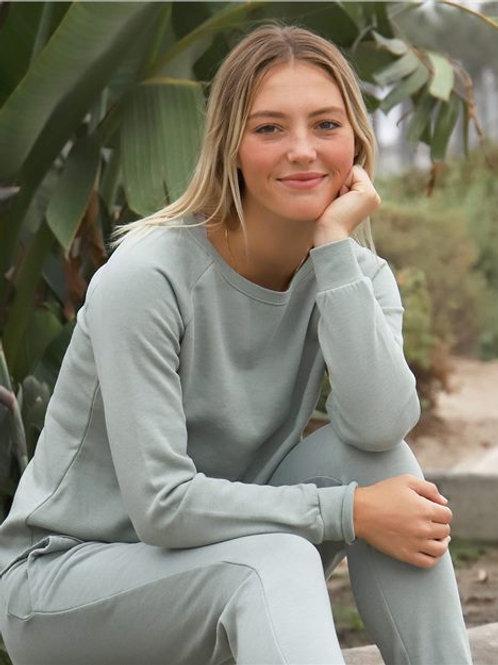 Independent Trading Co. - Women's Calif Wave Wash Crewneck Sweatshirt - PRM2000