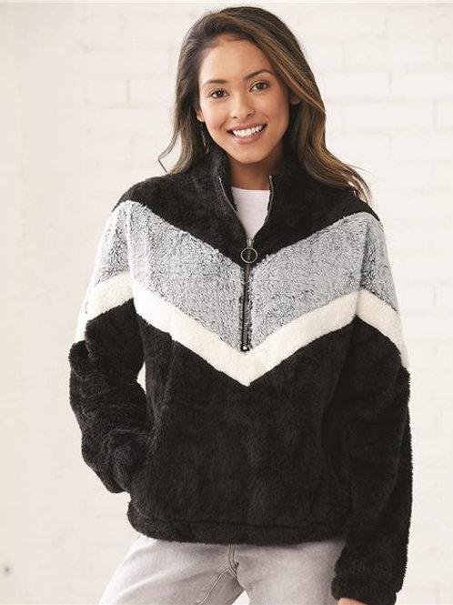 Boxercraft - Women's Chevron Fuzzy Fleece Pullover - FZ05