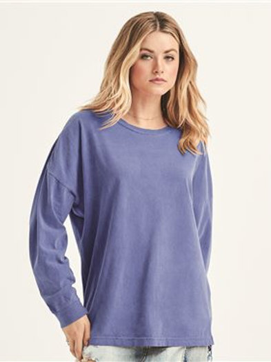 Comfort Colors - Garment-Dyed Drop-Shoulder Long Sleeve T-Shirt - 6054