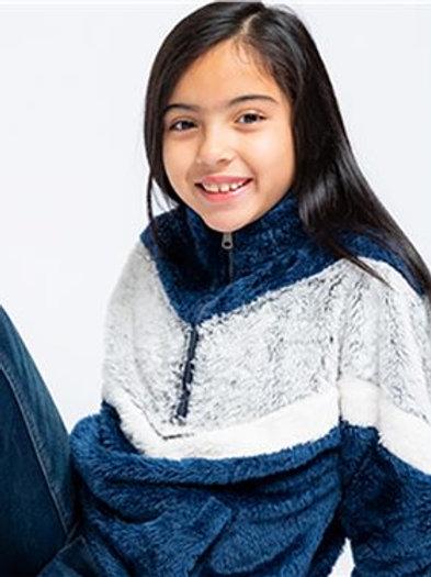 Boxercraft - Girls' Chevron Fuzzy Fleece Pullover - YFZ05