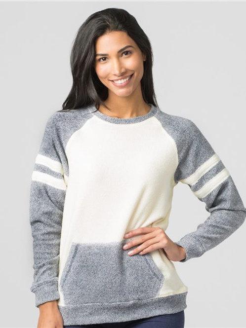 Boxercraft - Women's Cozy Contrast Fleece Pullover - L04